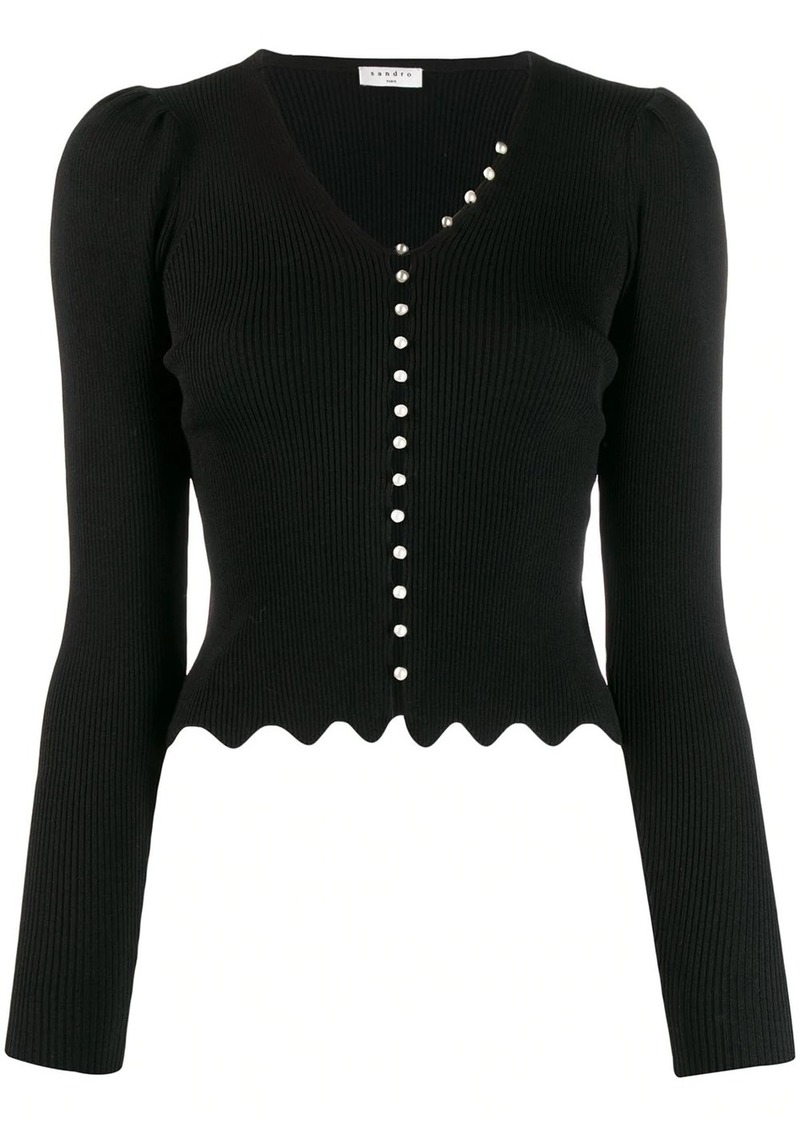 Sandro Ginaz knitted top