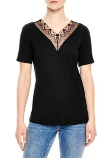 Sandro H18 Coquelicot Embellished Top