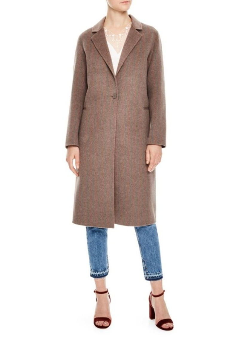Sandro H18 Rocher Wool Coat