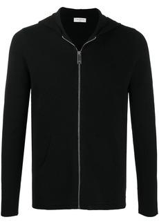 Sandro fine-knit front-zip hoodie