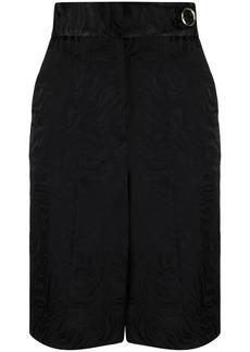 Sandro high-waist marbled jacquard shorts
