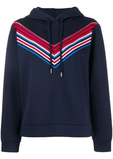 Sandro hoodie with stripe detail