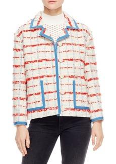 Sandro Idaline Tweed Contrast Jacket