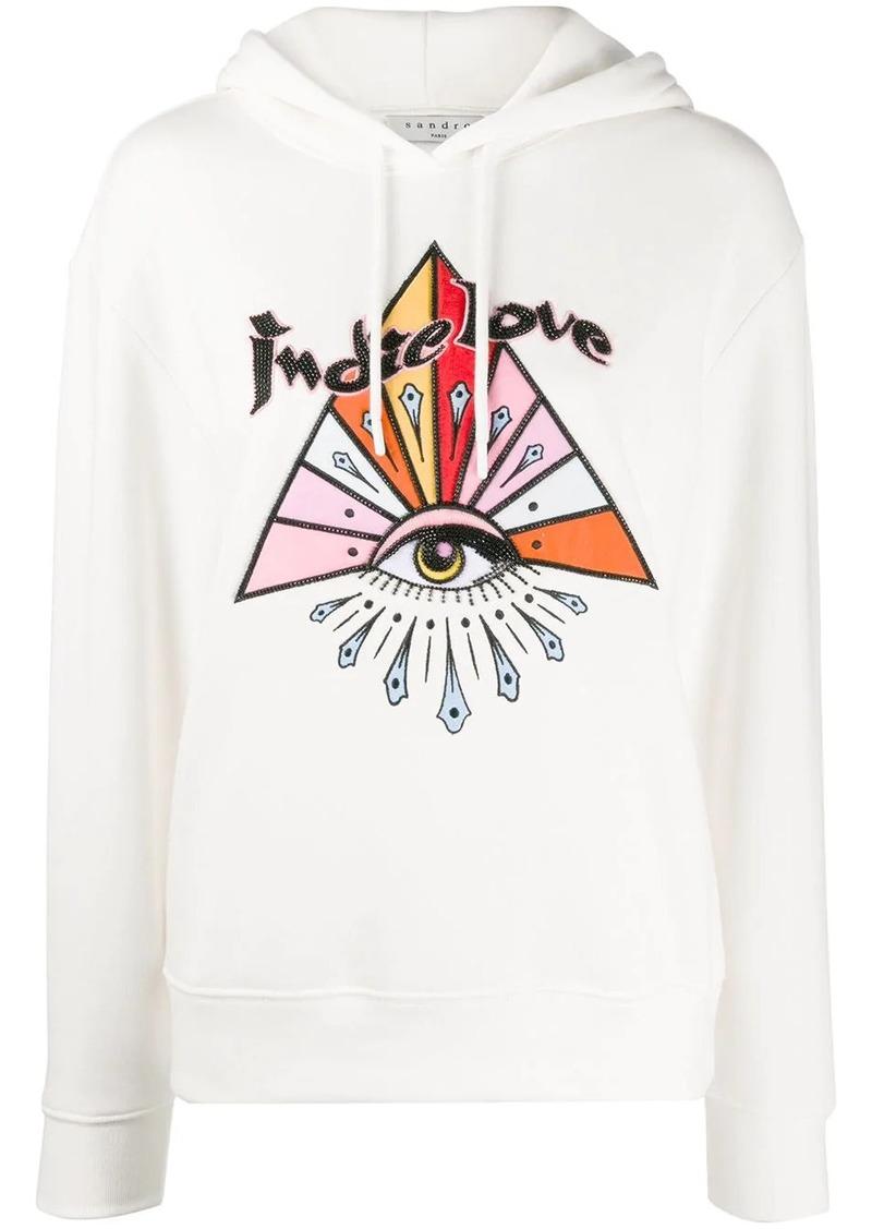 Sandro Indie Love embellished hoodie