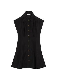 Sandro Josephine Linen Mini Dress
