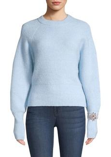 Sandro Knautie Embellished Wool-Blend Sweater