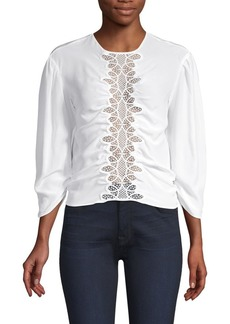 f41d8fff216b79 Sandro Sandro Coralisse Eyelet-Lace Top | Casual Shirts