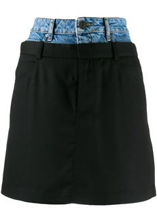 Sandro layered denim skirt