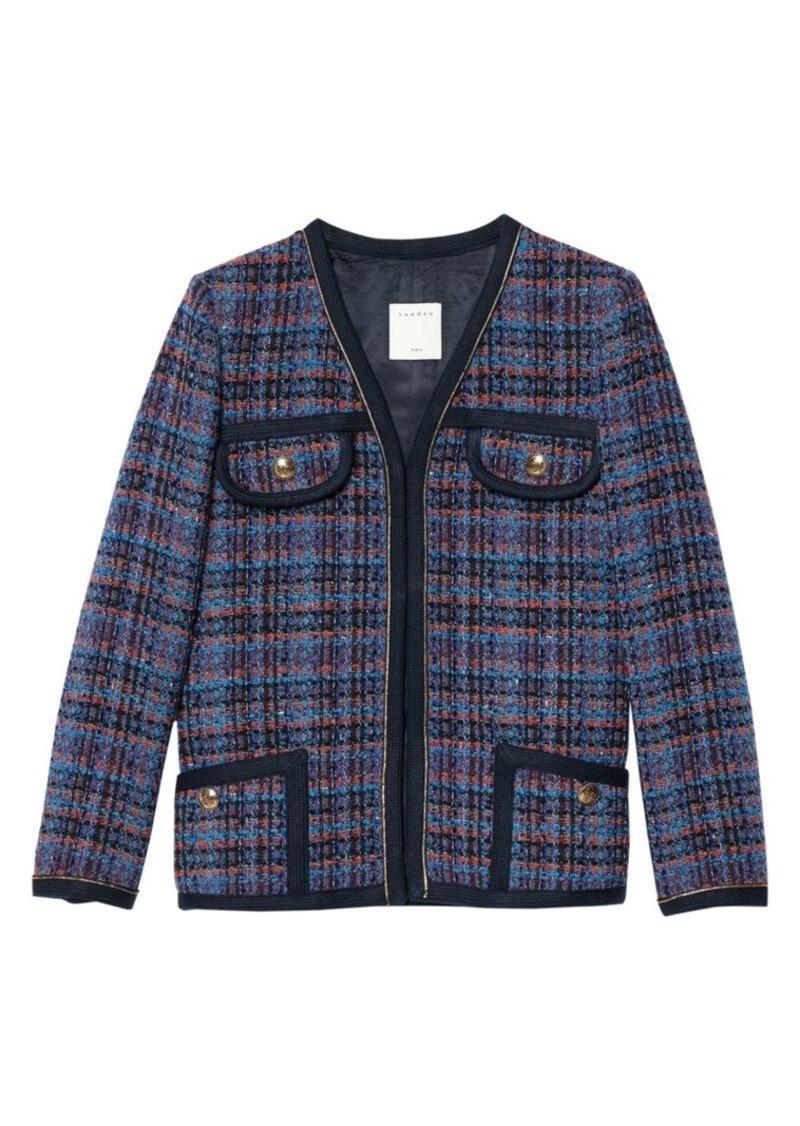 Sandro Liman Piping Tweed Jacket