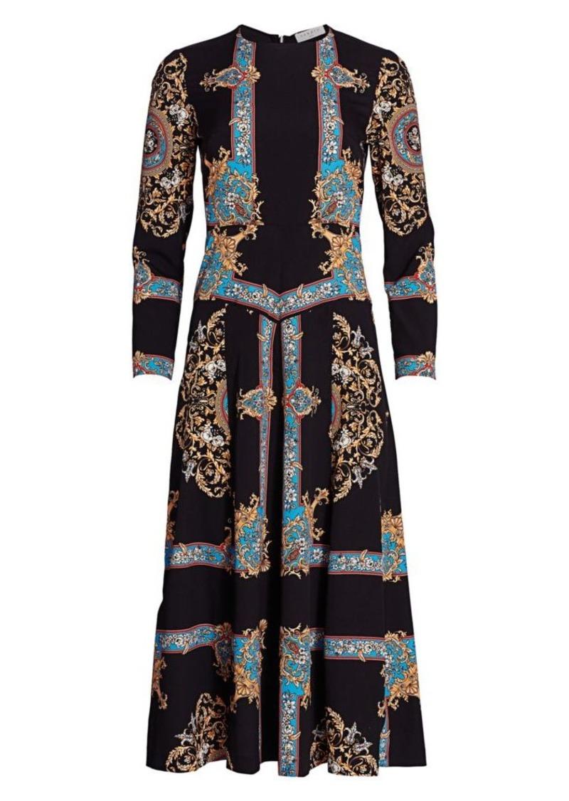 Sandro Liventa Printed Midi Dress