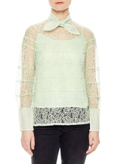 Sandro Lizzi Lace & Bow Top