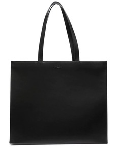 Sandro logo-embossed leather tote bag