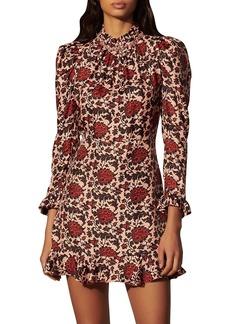 Sandro Lyah Paisley-Printed Silk Blend Dress