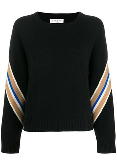 Sandro Manuel contrasting sleeves sweater