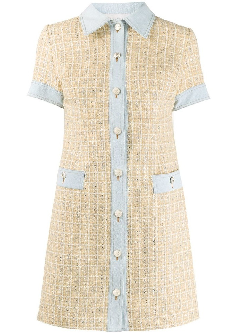 Sandro Mella embroidered mini dress