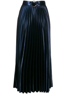 Sandro metallic pleated skirt