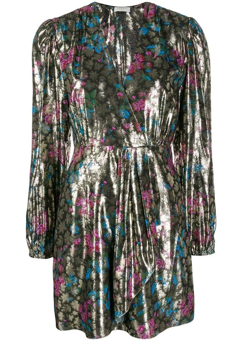 Sandro metallic plunge style dress