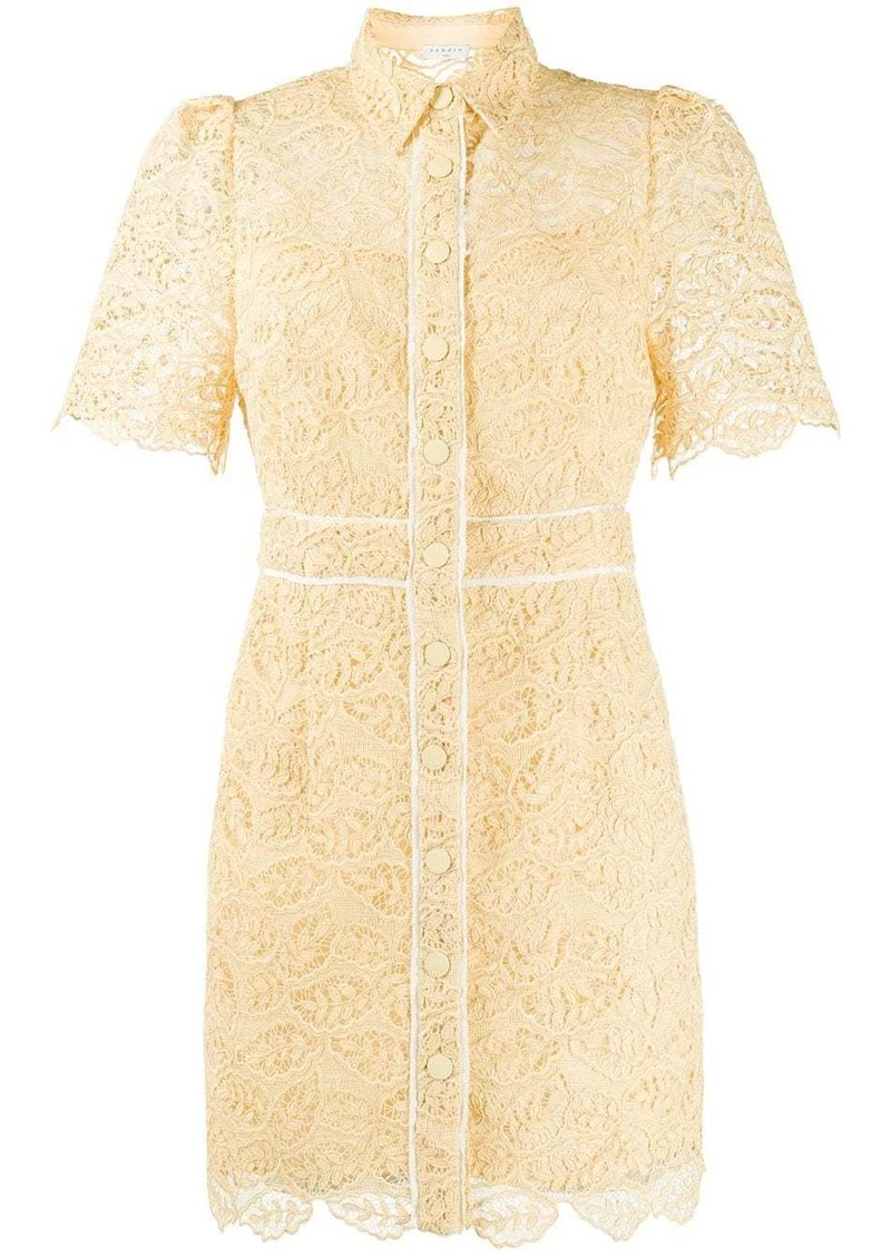 Sandro mini lace shirt dress