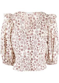 Sandro Miranda floral print shirt