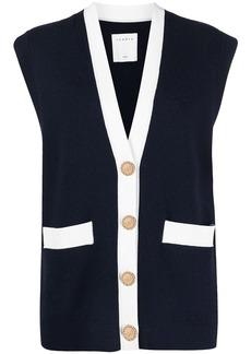 Sandro Myriam sleeveless knit cardigan