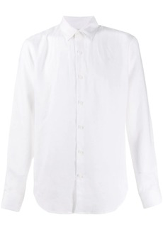 Sandro natural flax plain shirt