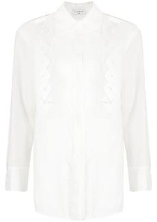 Sandro open-knit diamond pattern shirt