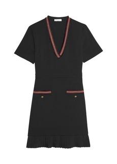 Sandro Orna Braided-Trim Shift Dress