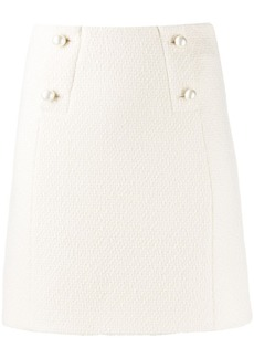 Sandro pearl embellished mini skirt