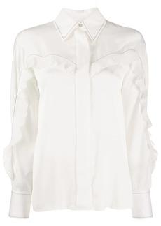 Sandro pleated detail shirt