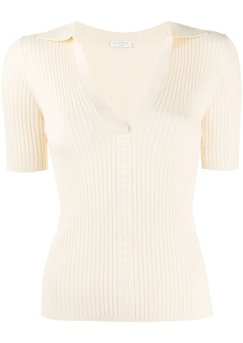 Sandro Poline knitted top