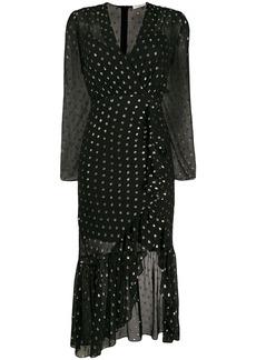 Sandro polka dot print dress