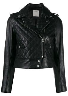 Sandro quilted biker jacket