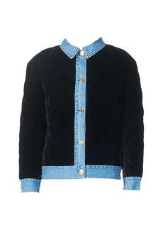 Sandro Quilted Velvet Jacket