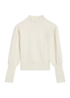 Sandro Raphael Mockneck Long-Cuff Sweater