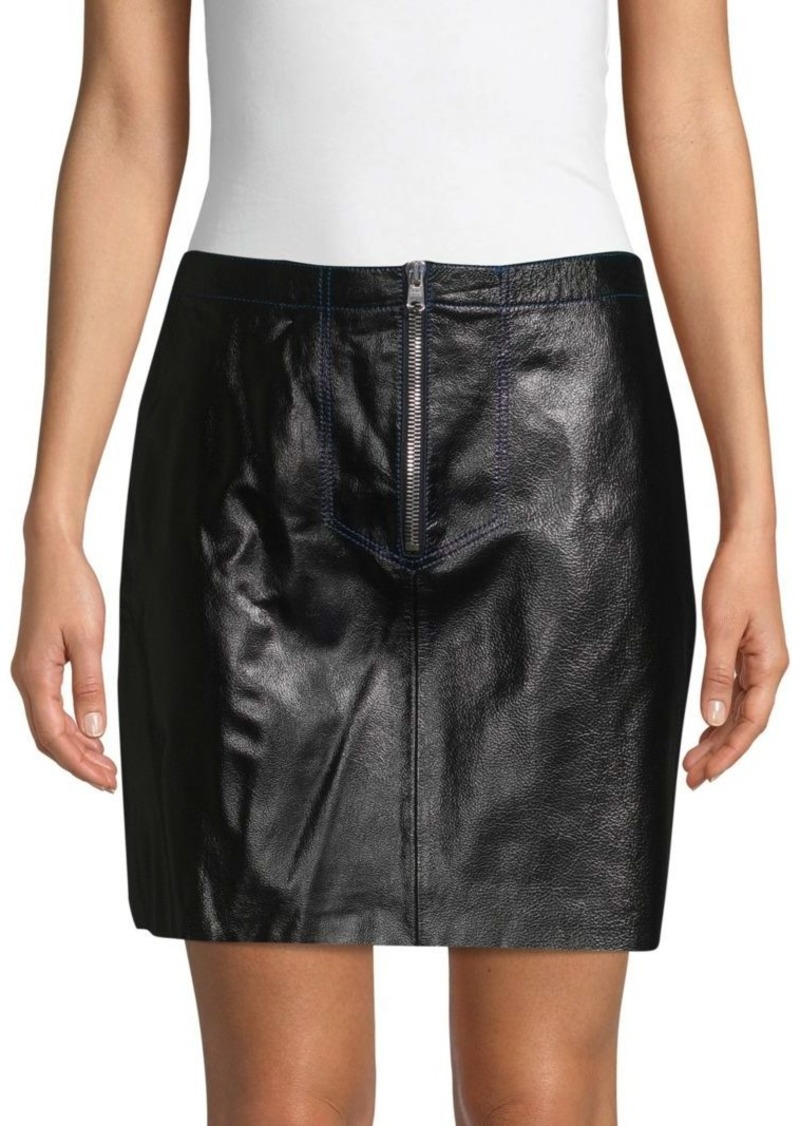 09a58362c3 Sandro Ray Leather Mini Skirt | Skirts