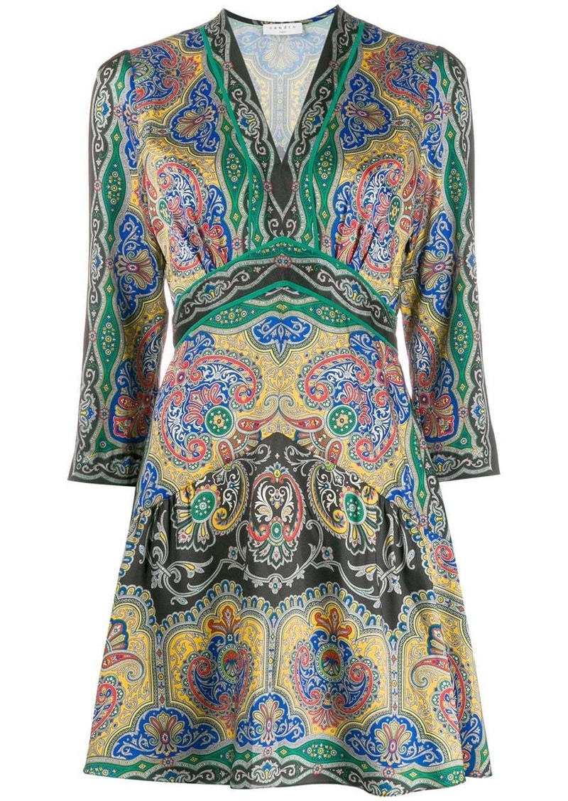 Sandro Rayan paisley-print dress