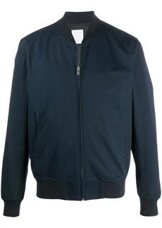 Sandro ribbed-neck zip-through bomber jacket