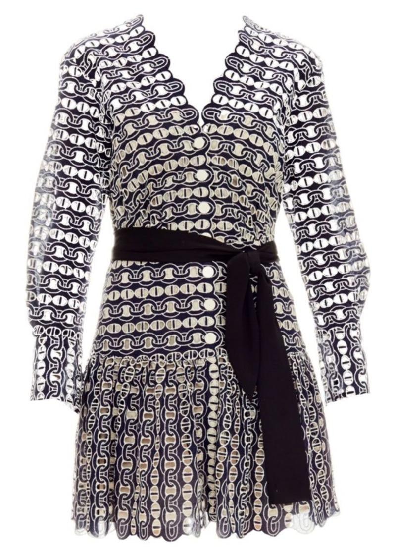 86b89cf59dcf Sandro Rolly Chain Lace Flounce Hem Dress | Dresses