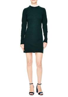 Sandro Ruffle Collar Sweater Dress