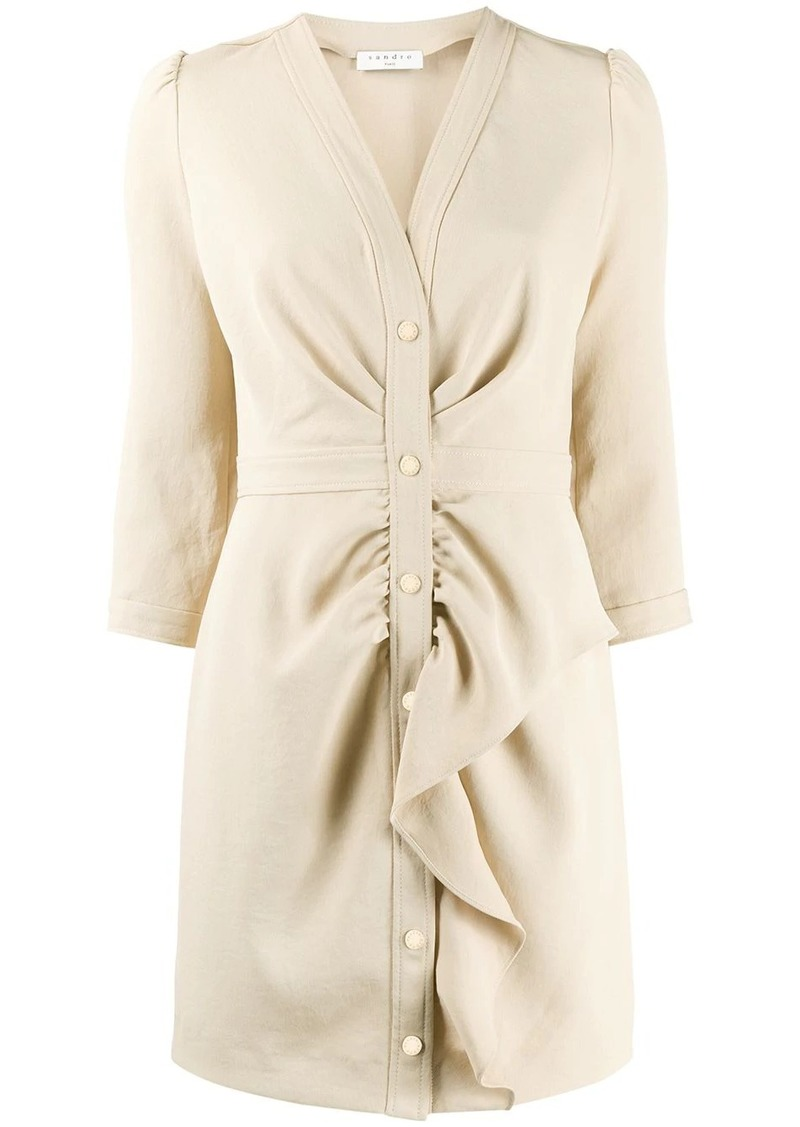 Sandro ruffle-trim shirt dress