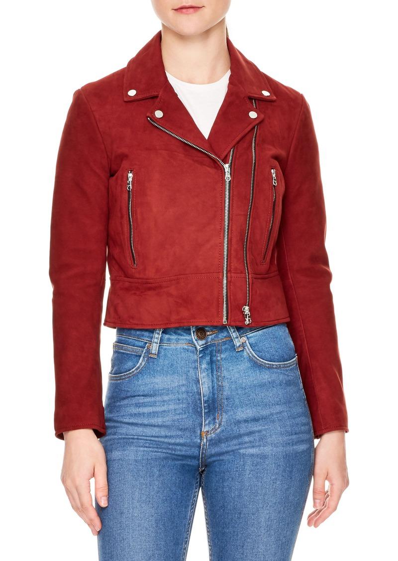 sandro Adaya Leather Zip Jacket