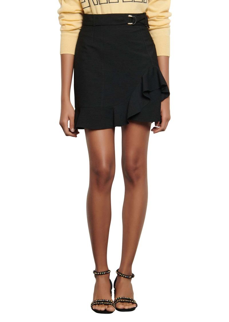 sandro Amy Ruffled Miniskirt