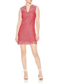 Sandro Anaele Geo Lace Mini Dress