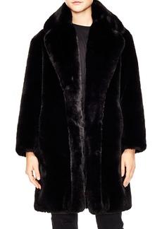 sandro Ballote Faux Fur Coat