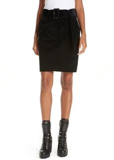 sandro Belted Corduroy Skirt
