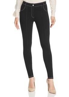Sandro Bely Contrast-Stitched Skinny Pants - 100% Exclusive