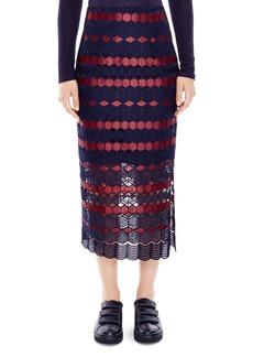 Sandro Blend Geo Lace Midi Skirt