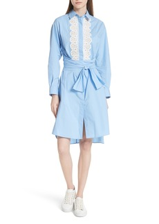 sandro Bleu Ciel Cotton Shirtdress