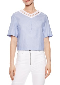 sandro Bleu Ciel Tie Back Top