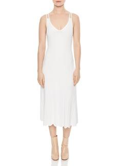 Sandro Bluan Knit Midi Dress